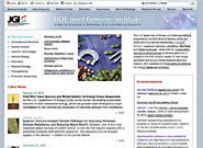 Screen shot of Joint Genome Institute home page