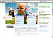 Screen shot of home page for baby data service