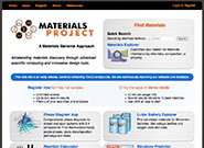 materialsproject.org home page